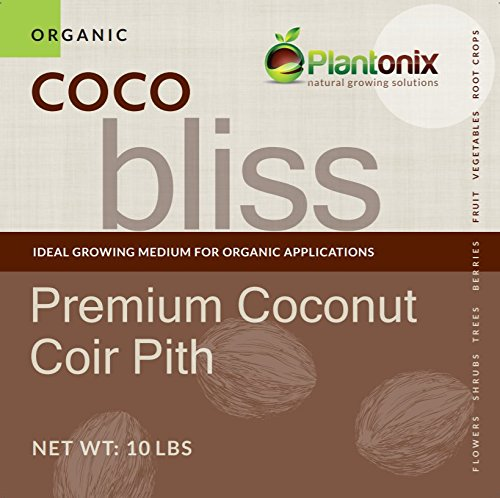 Coco Bliss Premium Coconut Coir Pith 10 lbs Brick/Block, OMRI Listed for Organic Use (Coco Brick 10 lb)