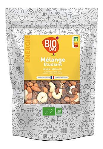Mélange de Fruits Secs Bio (Amandes, Noisettes, Raisins et Noix de Cajou) 1kg - Sans sucre ajouté - Bioday