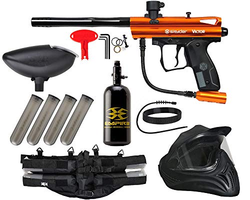 Action Village Kingman Spyder Victor Legendary Paintball Gun Package Kit (Orange)