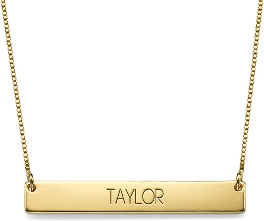 Graduation Jewelry - Bar Name OFFicial mail order N Popular Necklace Personalized
