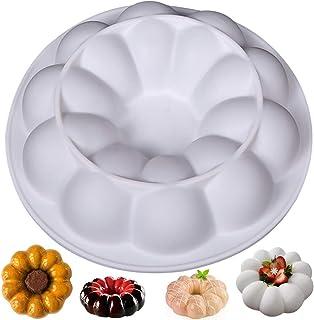 Moule à gâteau en silicone en spirale, NALCY Moule à Pâtisserie en Silicone, Donut Moule à Gâteau Antiadhésif, Moulessilic...