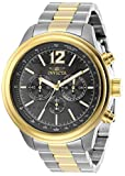 Invicta Men's Aviator Quartz Watch with Stainless Steel Strap, Two Tone, 22