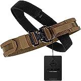 PETAC GEAR Tactical Molle Belt Rigger Belt with Cobra Buckle D-Ring Gun Belt Heavy Duty Belt Range Belt 1.75' Inner Belt 2' Outer