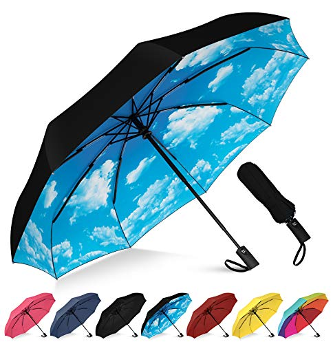 Windproof Travel Umbrella Goku Fire Dragon Ball Compact Folding Umbrella Automatic Open//Close