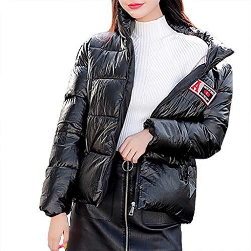 KPILP Frauen Winter Warm Daunenmantel Steppjacke Mantel Stehkragen Wintermantel Lässig Casual Outwear Mode Leicht Winterparka Slim Fit Jacke Cardigan