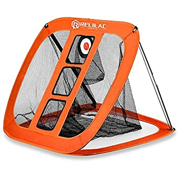 RELILAC Pop Up Golf Chipping Net - Indoor/Outdoor Golfing Target Accessories for Backyard Accuracy and Swing Practice - Great Gifts for Men Dad Husband Women Kid Golfers