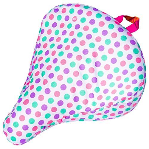 Liix Sattelbezug Saddle Cover, Polka Big Dots Weiß, LFSBA