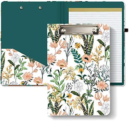 Hongri Clipboard Folio with Refillable Lined Notepad and Interior Storage Pocket for Students product image