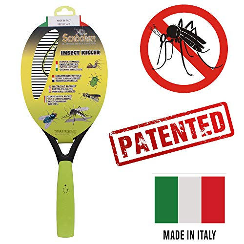 Sandokan - Racchetta fulmina Zanzare stermina insetti elettronica - Made in Italy Mosquito killer