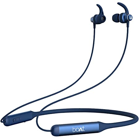 boAt Rockerz 335 Wireless Neckband with ASAP Charge, Up to 30H Playback, Qualcomm aptX & CVC, Enhanced Bass, Metal Control Board, IPX5, Type C Port, BT v5.0, Voice Assistant(Bold Blue)