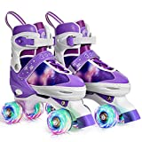 Gonex Roller Skates for Girls Kids Boys Women with Light up Wheels and Adjustable Sizes for Indoor...