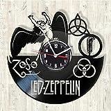 LittleNUM Disco de Vinilo Reloj de Pared de Silencio Zeppelin Serie de Vinilo Reloj de Pared Decorativo Reloj de Pared Creativo Adecuado Gran Sala, Sala de Estar