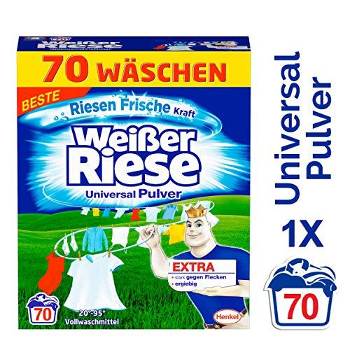 Weißer Riese Universal Pulver, Vollwaschmittel, 70 Waschladungen, extra stark gegen Flecken