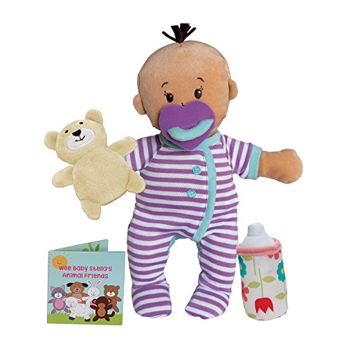 "Manhattan Toy Wee Baby Stella Beige Sleepy Times Scent 12"" Soft Baby Doll Set"