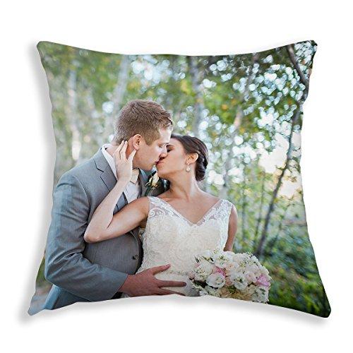 Funda para cojín de boda personalizable, foto hecha a medida