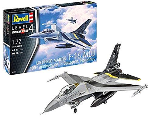 Revell- Maquette d'avion de Chasse F16 MLU 100ème Anniversaire, 03905