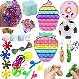 Tumuka Fidget Toy Pack 27 Piezas Fidget Toy Pack Barato con Pop It Grande Push Pop para aliviar estrés y ansiedad de niños y Adultos Popit Fidget Toys Pack Fidget Toys Baratos