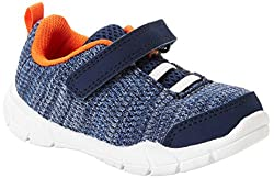 top 10 oshkosh shoes toddler Carters Kids Simple Joyknit Sports Sneakers Unisex, Dark Blue, for 10m Baby.