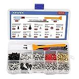 XTVTX 330 Stk PC Schrauben abstandshalter Set-Kit Für Motherboard Festplatte Computergehäuse Lüfterleistung Und ein Reinigungsbürsten-Netzschalterkabel Mit Mini Schraubendreher