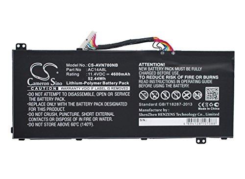 TECHTEK batería sustituye 934T2119H, para AC14A8L, para AC14A8L(3ICP7/61/80), para AC15B7L, para KT.00307.003, para KT.0030G.001 Compatible con [Acer] Aspire VN7-591G-77FS, Aspire Nitro VN7-571, ASP