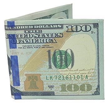 W.I.I Big Bucks Novelty One Hundred Dollar Bill Printed Bi-Fold Wallet Large