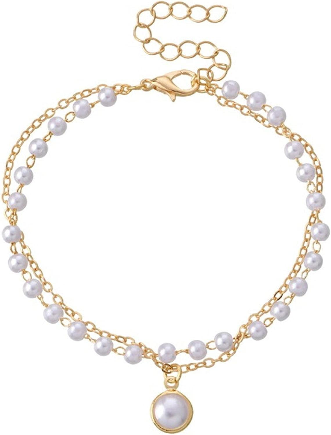 Animer and price revision Simple Imitation Pearl Adjustable safety Ins Tempe Multilayer Bracelets