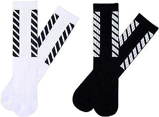 Calcetines Deportivos para Hombre y Mujer, 2 Pares, Calcetines Altos Algodon Transpirable, Calcetin Deporte Running Antideslizantes