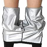 Womteam Pantalones de yoga para mujer, cintura alta elástica Strethcy Fitness Leggings de yoga, pantalones de gimnasio, entrenamiento, correr, leggings (negro, XXL)