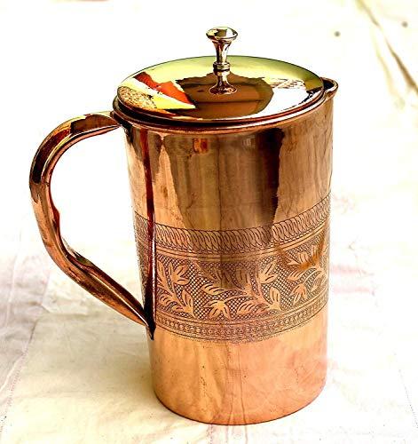 Corps Crafts en cuivre pur en relief Carafe à eau