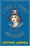 I Run A Tight Shipwreck, Meeting Agenda: Blue Buccaneer Sailor Girl Retro Pinup tattoo flash Pirate ...