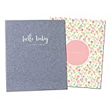 Peachly Minimalist Baby Memory Book for Girls Milestone Keepsake...