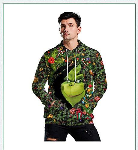 Uomo Felpa con Cappuccio 3D Stampato Grafico Serie Creativo Fantastico Parodia dell'Arte Cosplay Costume Natale Sport Casual/C/L