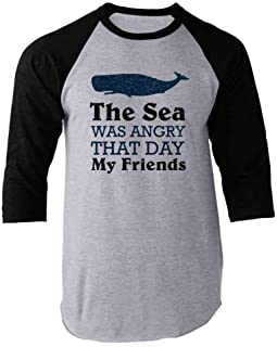 The Sea was Angry That Day My Friends Funny Womens Tee Shirt, Tank Top, Tote Bag