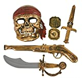 Rhode Island Novelty 5pc Pirate Pistol Set