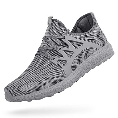 Feetmat Womens Sneakers Ultra Lightweight Breathable Mesh Athletic Walking Running Shoes (11, Grey)