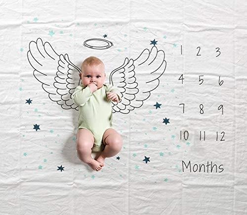 Manta mensual de hitos para bebés, 47 × 60 pulgadas Infantil Recién...
