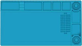 【Amazon.co.jp限定】 E·Durable 作業マット 卓上作業マット シリコン製 38cm*21cm 500℃高温熱風に耐える 無毒 静電気防止 断熱パッド 作業用マット マグネット付 滑り止めデスク修理マット はんだ 耐熱パッド ...