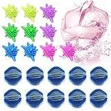 ETHEL Washing Ball Asciugatrice Palle 20 Pezzi Palla per bucato Palle di Lavaggio riutilizzabili Anti-Pelucchi Palle Raccogli Peli Animali Lavatrice, per lavatrici Asciugatrici (Blue Bianco)