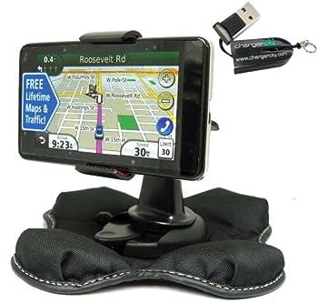 ChargerCity Nonslip Beanbag Friction Mount for Garmin Nuvi Tomtom Start XL XXL ONE VIA Magellan Roadmate Maestro 3.5  4.3  & 5  GPS
