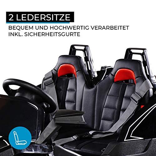 RC Auto kaufen Kinderauto Bild 3: Actionbikes Motors Kinder Elektroauto GT Super Speed JC888 – 4x40 Watt Motor – 2-Sitzer - Eva Reifen – Allrad – Kinderauto (Schwarz)*