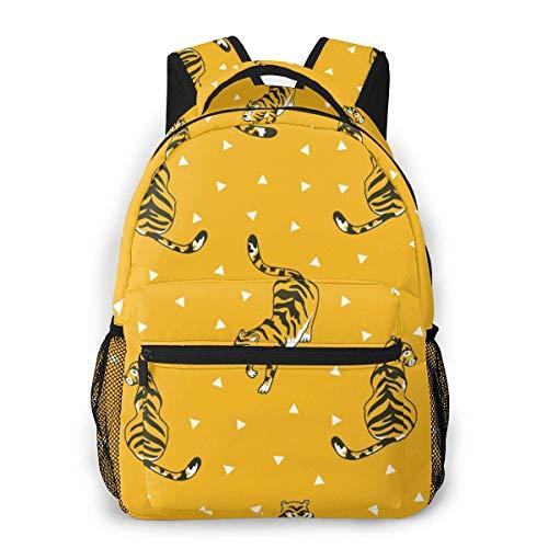 Lawenp Fashion Unisex Backpack Funny Tiger Bookbag Lightweight Laptop Bag for School Travel Outdoor Camping