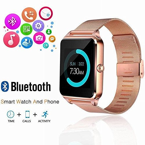 Bluetooth Smart Watch GSM SIM Phone Mate Z60 Stainless Steel for iOS Android Mississippi
