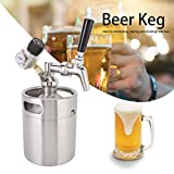 Oyunngs Sistema de Barril de Cerveza, Mini Barril de Cerveza automático de Acero Inoxidable Lanza Growler Contenedor de Barril de café Kegerator, para Cerveza Artesanal, Barril y Cerveza Artesanal