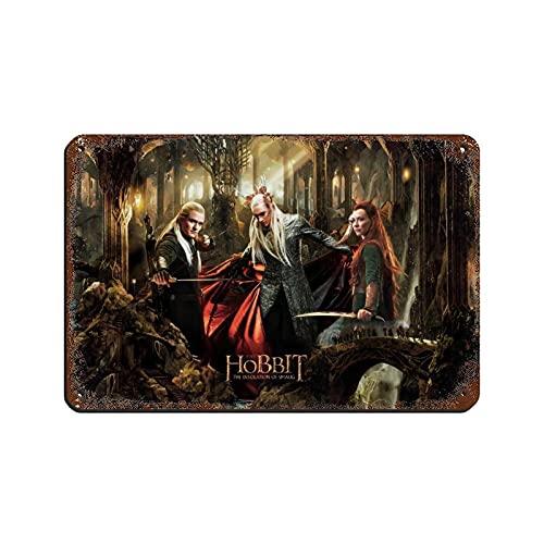 Cartel de película Lord of the Rings The Hobbit 15 de metal vintage Pub Club Cafe bar Home Wall Art Art Poster Retro 20 × 30 cm