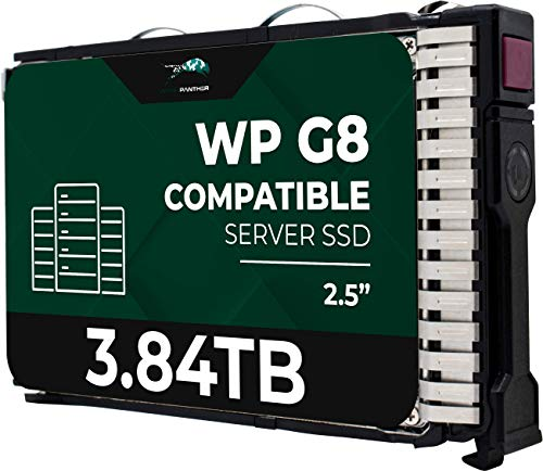 3.84TB SAS 12Gb s 2.5in 15mm SSD for HP ProLiant Servers | Enterprise Solid State Drive in G8 G9 G10 Carrier
