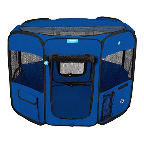 Pawdle Deluxe Premium Foldable Portable Traveling Exercise Pet Playpen Kennel Cats
