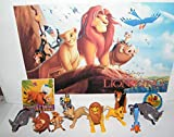 Playful Toys The Lion King Movie Deluxe Figure Set of 12 Toy Kit with Sticker, ToyRing and 10 Figures Featuring All The Favorite Characters Like Simba, Timon, Pumbaa and Many More!