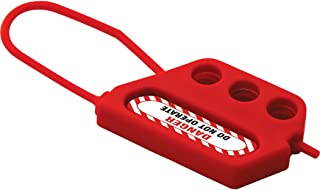 Lockout Safety Supply 7270 3 Hole Flexible Hasp, Red