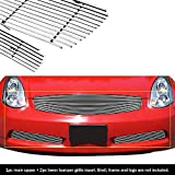APS Compatible with 2003-2007 Infiniti G35 Coupe Billet Grille Combo N19-A06978N