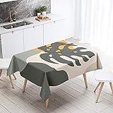 XXDD Mantel Rectangular nórdico para Mantel artístico Abstracto Dejar escandinavo Impermeable Hule decoración Cubierta A1 140x200cm